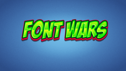 Font Wars Typing Game