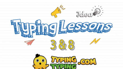 Typing Lessons: 3, 8 and Space Keys