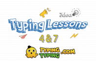 Typing Lessons: 4, 7 and Space Keys