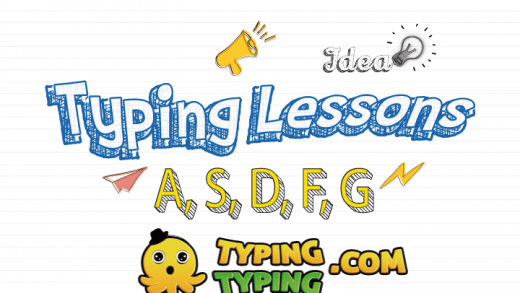 Typing Lessons: A, S, D, F, G and Shift Keys
