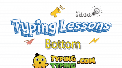 Typing Lessons: Full Bottom Row Keys