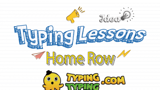 Typing Lessons: Full Home Row Keys