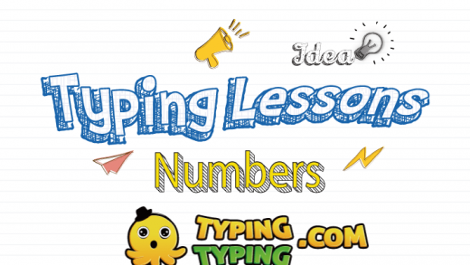 Typing Lessons: Full Numbers Row Keys
