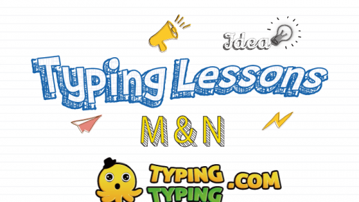 Typing Lessons: M, N and Shift Keys