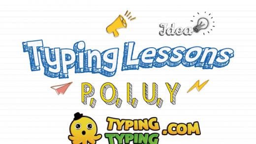Typing Lessons: P, O, I, U, Y and Shift Keys