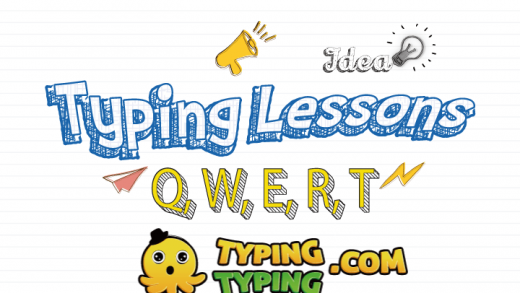 Typing Lessons: Q, W, E, R, T and Shift Keys