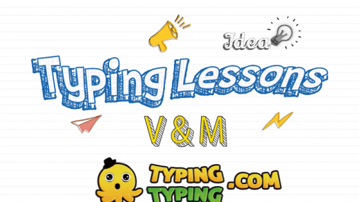 Typing Lessons: V, M and Space Keys