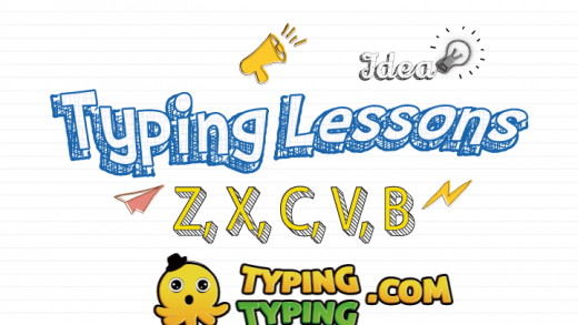 Typing Lessons: Z, X, C, V, B and Shift Keys