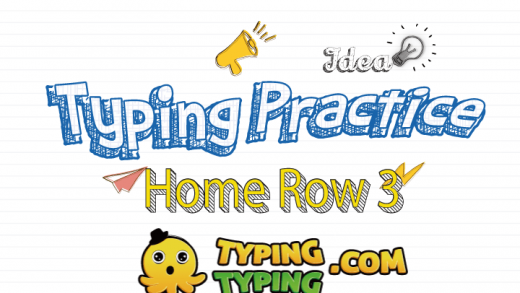Typing Practice: Home Row 3