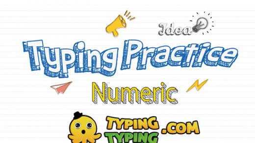 Typing Practice: Numeric