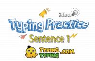 Typing Practice: Sentence 1
