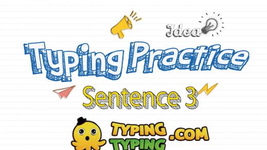 Typing Practice: Sentence 3