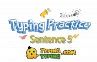 Typing Practice: Sentence 5