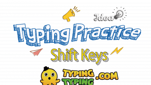 Typing Practice: Shift Keys