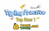Typing Practice: Top Row 1