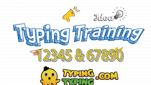 Typing Training: 12345 and 67890 Keys