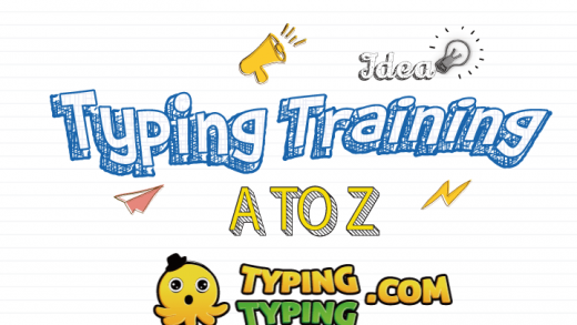 Typing Training: A To Z Keys