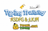 Typing Training: ASDFG and ;LKJH Keys