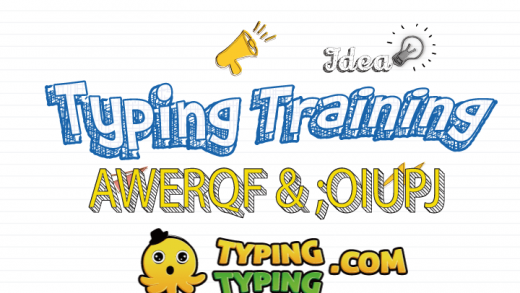 Typing Training: AWERQF and ;OIUPJ Keys