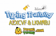 Typing Training: AZXCVF and LKMNBJ Keys