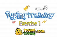 Typing Training: Exercise 1