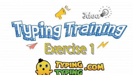 Typing Training: Exercise 1