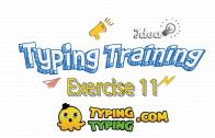 Typing Training: Exercise 11