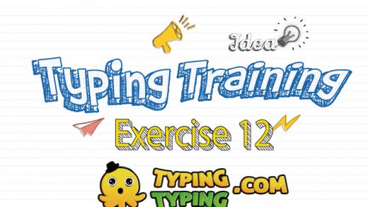 Typing Training: Exercise 12