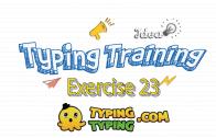 Typing Training: Exercise 23