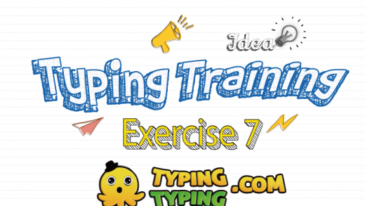 Typing Training: Exercise 7