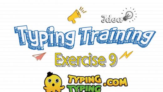 Typing Training: Exercise 9