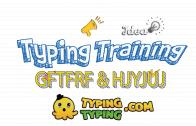 Typing Training: GFTFRF and HJYJUJ Keys