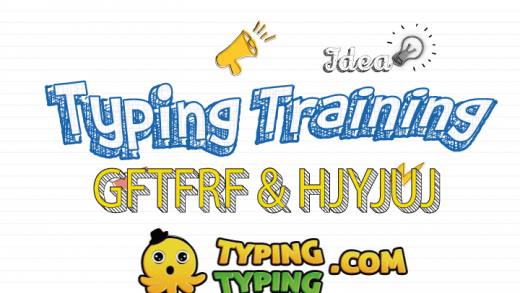 Typing Training: GFTFRF and HJYJUJ Keys